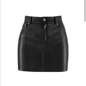 Ruve Jane leather skirt